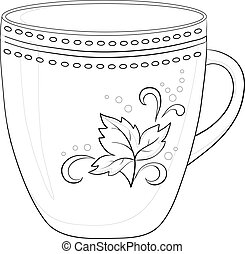 Cup with a pattern, contour