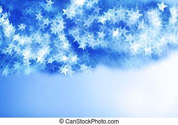 blue bokeh background close up