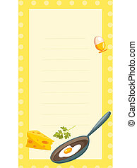 old fashioned recipe card , illustration