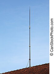 Lightning Conductor Rod - A tall lightning conductor rod and...