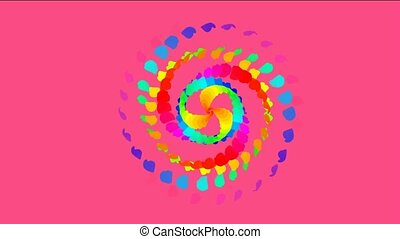 swirl color feathers and paper