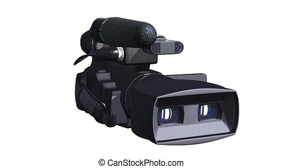 Television Camera 3D dual-lensed - 3d render of professional...