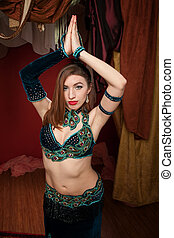 Beautiful Belly Dancer - Beautiful belly dancer with velvet...