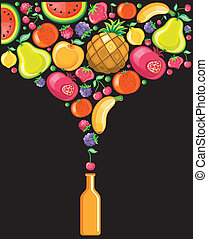 Fruity series 2 - Different types of delicious fruits...