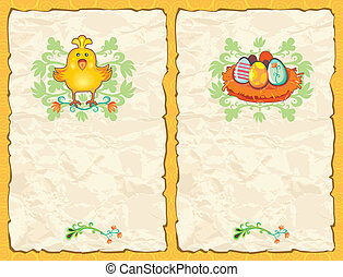 Easter textured backgrounds