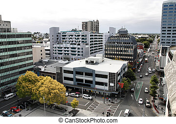 Christchurch, New Zealand - urban cityscape with modern...