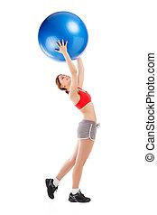 donna, Palla, esercitarsi, esercizio