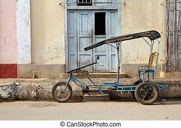 Cuba bike taxi - Remedios, Cuba - typical bici taxi, Cuban...