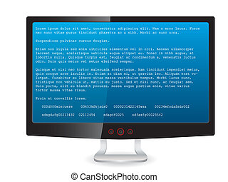 Black tft monitor with error message - Black tft screen with...