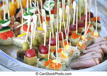 canape - This is a close-up of a colorful canape