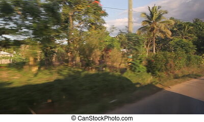 Driving through Dominican Rural - Driving through a rural...