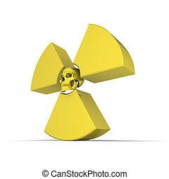 nucleare, Simbolo, giallo, cranio