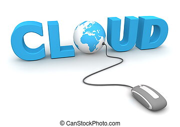Browse the Global Cloud - Grey Mouse - modern grey computer...