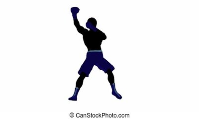 African American Male Boxer