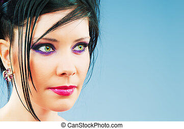 Fashion beauty concept with attractive woman