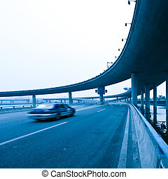 Viaduct - concrete road curve of viaduct in shanghai china...