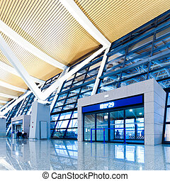 walkway of airport - Modern Architecture of shanghai...