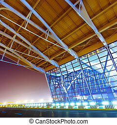shanghai airport - night scene of Shanghais Pudong...