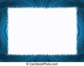 Blue Fractal Border Copy Space