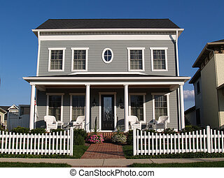 Two Story Vinyl Home With Historica - New two story vinyl...