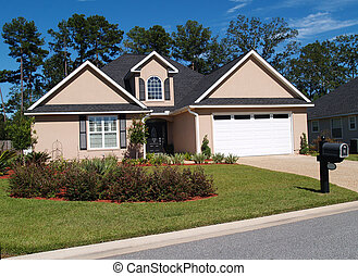 One Story Residential Home - One story residential home with...