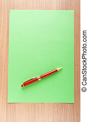 Paper background with pen