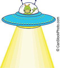 cartoon alien in vector format