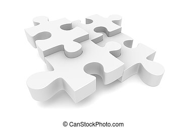 Jigsaw Puzzle - The classic Jigsaw Puzzle, White with Copy...