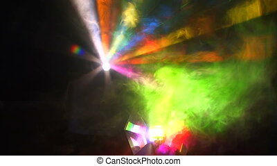 Beautiful lighting effects - Beautiful disco lighting in the...