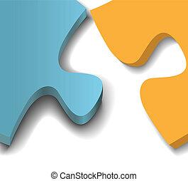 Puzzle pieces problem solution close up