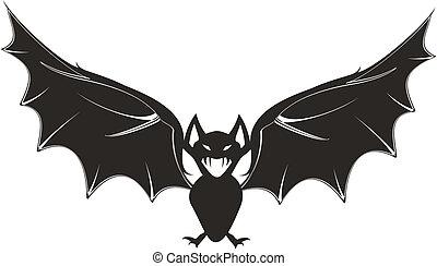 cartoon bat 6 - cartoon bat  in vector format