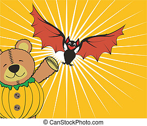 halloween teddy background4 - halloween teddy background in...