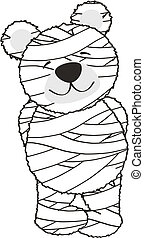 teddy mummy in vector format