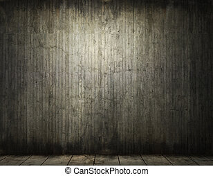 Grungy conrete room background - grunge background of an...