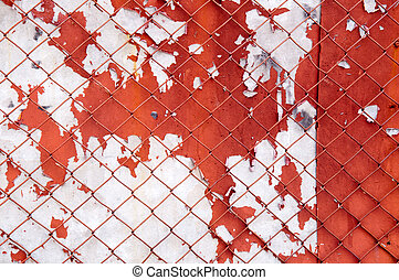 iron gate with fence - iron gate with peeled steel fence