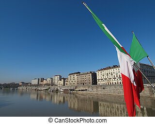 River Po, Turin - Fiume Po River Po in Turin Italy