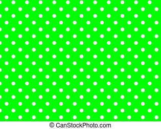 Jpg. Green Background Polka Dots - Jpg. Green background...