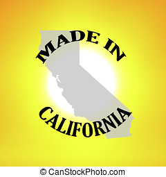 Made in California graphic for signage and stickers