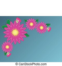 Vector Zinnia Flower Border