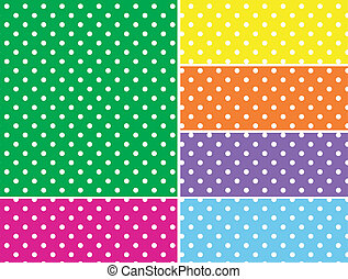 Dotted Vector Swatches in 6 Colors - Eps8. Dotted vector...