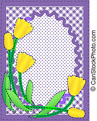 Vector Oval Border With Flowers - Eps10 Vector border with...
