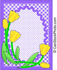 Jpg Oval Border With Flowers - Jpg Border with oval copy...