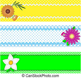 Three Jpg Borders With Flowers - Jpg Three borders with copy...