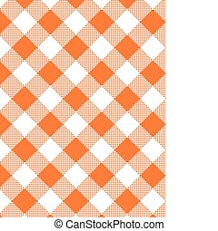 Vector eps8, Woven Orange Gingham - Vector, eps8, Woven...