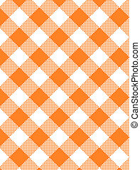 JPG Woven Orange Gingham - Jpg Woven orange and white...