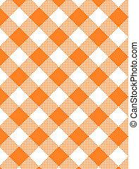 JPG Woven Orange Gingham - Jpg. Woven orange and white...