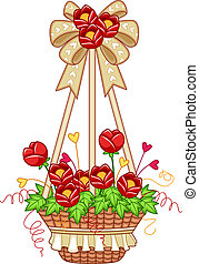 Flower Pot - Illustration of a Hanging Flower Pot