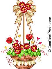 Flower Pot - Illustration of a Hanging Flower Pot