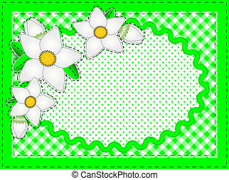 Jpg Oval Border With Flowers - Jpg. Border with oval copy...
