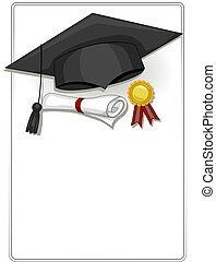 Graduation Frame - Frame Design Featuring Graduation Related...